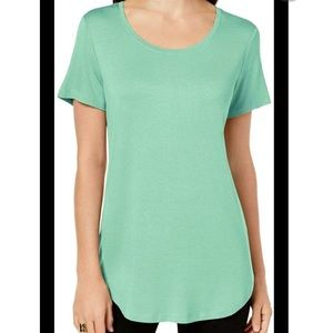 JM Collection Tee M Green Jade Isle Casual NEW